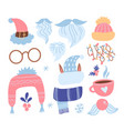 year collection set items flat vector image vector image