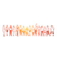 young ladies group standing together faceless vector image