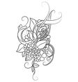 Zentangle floral pattern Doodle art flowers vector image vector image
