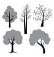 gray black trees vector image