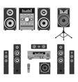 set of audio and music systems icons vector image