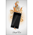 floral pattern with phone vector image