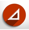 Vecror flat ruler icon vector image