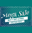 abstract mega sale discount voucher template vector image vector image