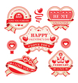 Abstract Valentines day decorative labels vector image