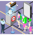 airport duty people queue vector image