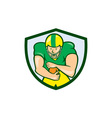 American Football Running Back Shield Cartoon vector image vector image