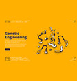 banner genetic engineering vector image