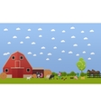 banner of big farm with lots animals vector image vector image