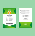 best id card 8 vector image vector image
