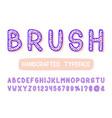 bold brush sans serif font hand drawn artistic vector image vector image