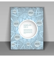 booklet template for information vector image