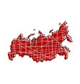 colored russia map vector image vector image