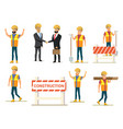 construction business people collection vector image