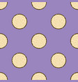cookie pattern seamless flat food background vector image