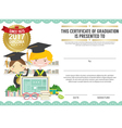 Diploma Certificate Template With Modern Pattern vector image vector image