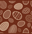 easter egg seamless pattern chocolate brown color vector image vector image