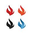 elegant flame icon set vector image vector image