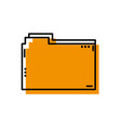 file folder to save documents information vector image vector image