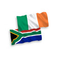 flags ireland and republic south africa on a vector image
