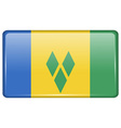Flags Saint Vincent Grenadines in the form of a vector image