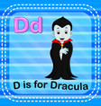 flashcard letter d is for dracula vector image
