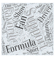 Formula D Fans Support Your Favorite Driver Word vector image vector image