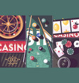 gambling game casino abstract background vector image vector image