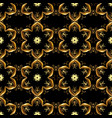 gold on black colors seamless medieval floral vector image vector image