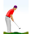 golf players vector image vector image