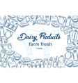 hand drawn dairy products vector image vector image