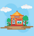 house in chinese style vector image