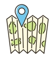 Location map icon flat style vector image vector image