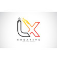 lx creative modern logo design with orange and vector image