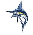 marlin fish mascot vector image