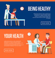 medical examination and healthcare posters vector image