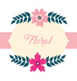 natural floral flowers vector image vector image