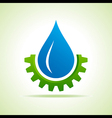 Oil industry drop symbol with gear symbol vector image