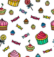 pattern with sweets vector image vector image