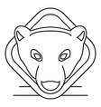 polar bear head logo outline style vector image
