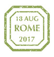 postal stamp from rome vector image vector image