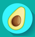 realistic avocado icon cut vector image