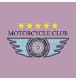 Retro Motorcycle Club Logo vector image