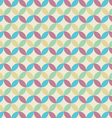 Retro seamless pattern circle vector image vector image