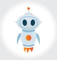 robot rocket mascot logo cute character vector image vector image