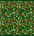 seamless pattern for saint patricks day on green vector image vector image