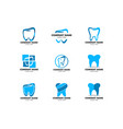 set dental logo template icon design vector image vector image