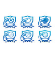 set various sport emblem icons vector image