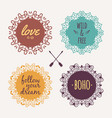 set with ornamental tribal floral frames ethnic vector image vector image