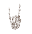 Skeleton hand heavy metal vector image vector image